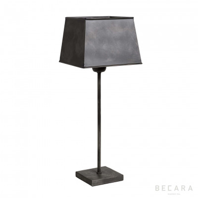 LAMPARA METAL PANTALLA CUAD COL. CEMENTO