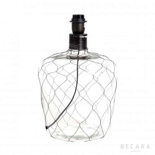 Glass and net table lamp