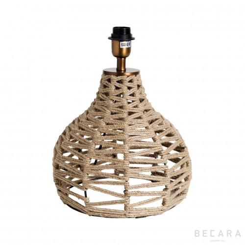 Lámpara de mesa de cuerdas