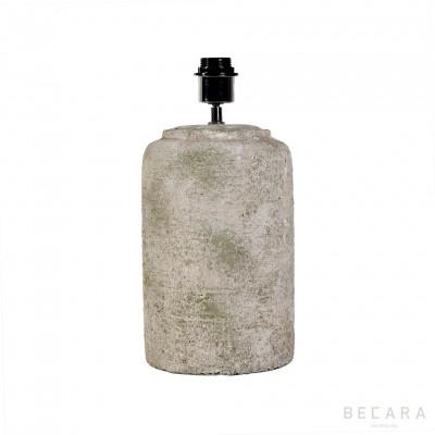 Lámpara de mesa de piedra verdosa Ø18cm