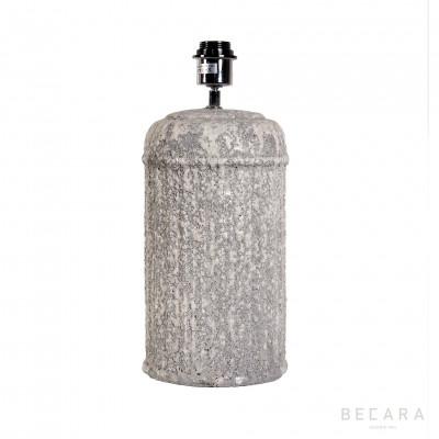 Lámpara de mesa bloque gris estriado