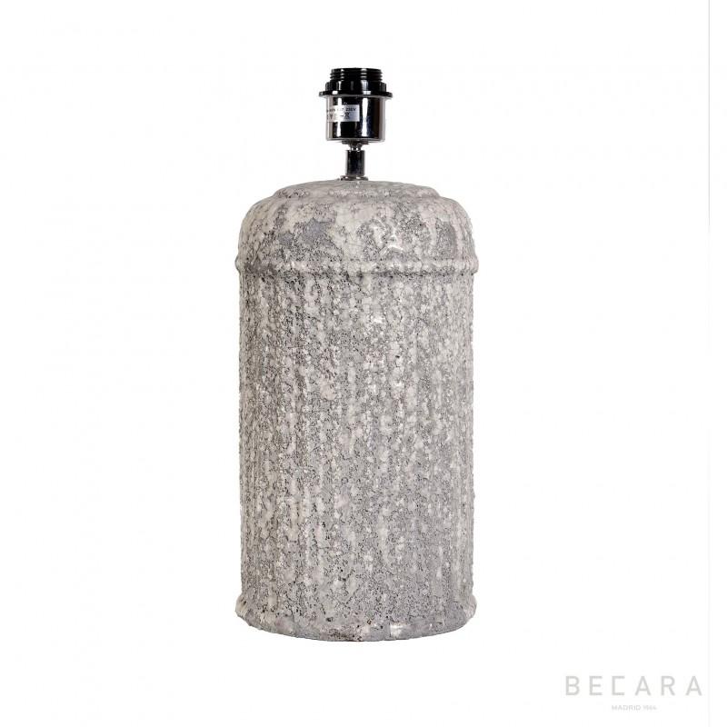 Lámpara de mesa bloque gris estriado - BECARA