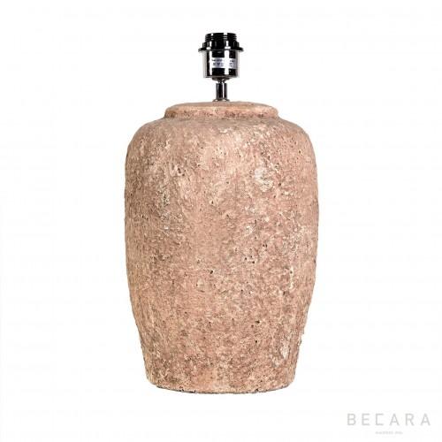 Lámpara tibor de piedra beige