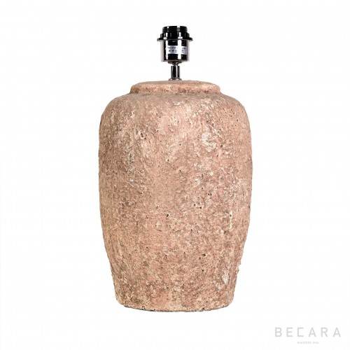 Beige stone jar table lamp