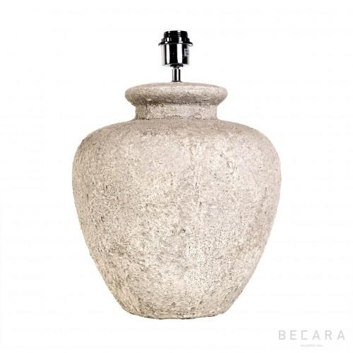 Lámpara de mesa redonda de piedra blanca Ø35cm - BECARA