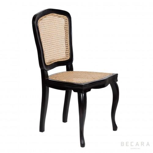 Silla Reina Ana negra - BECARA