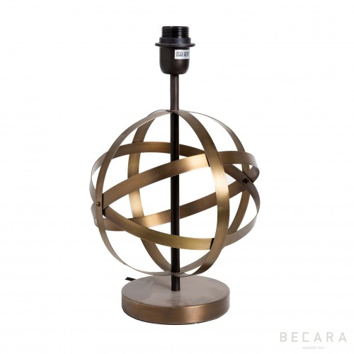 Table lamp with golden strips sphere