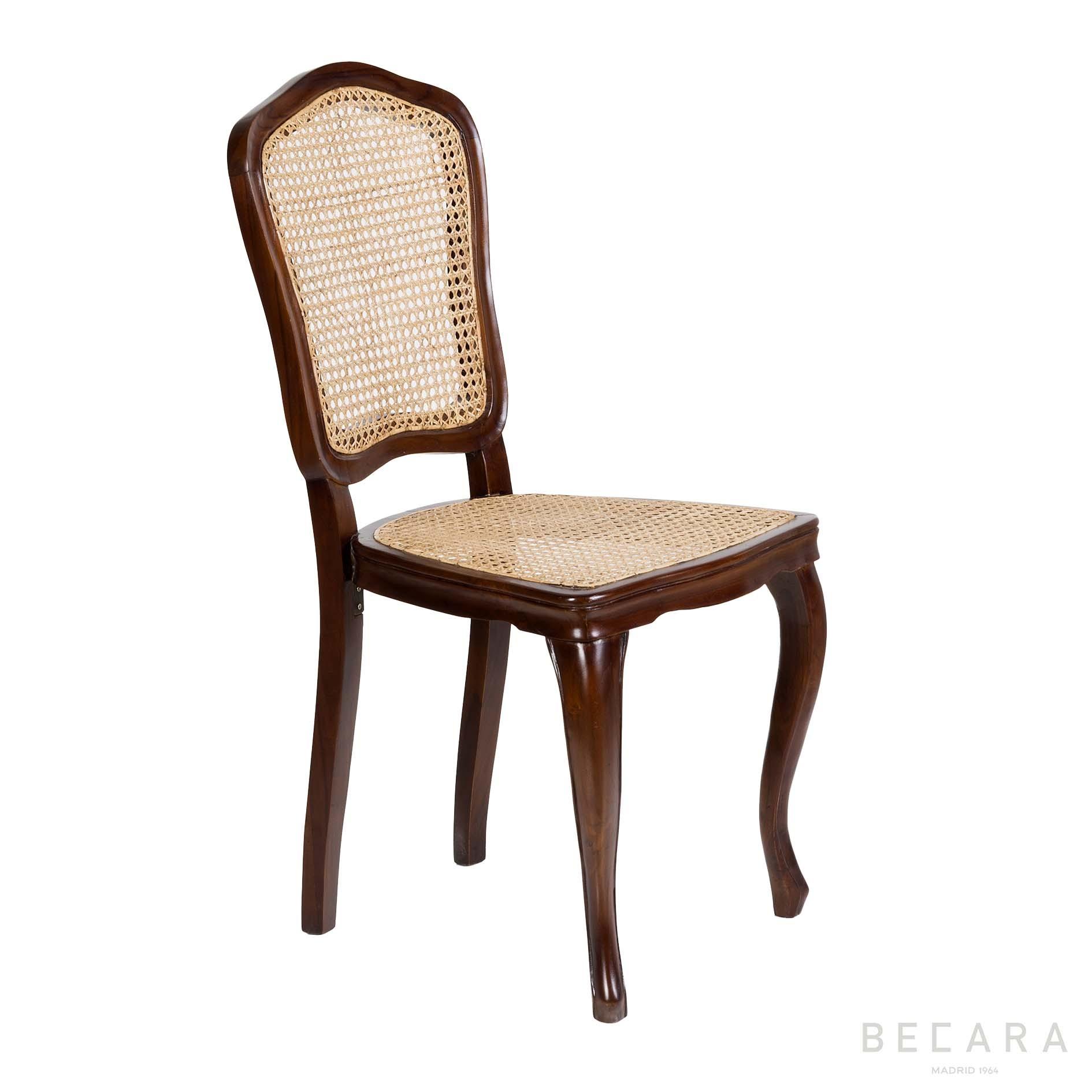Silla Reina Ana marrón - Sillas en BECARA
