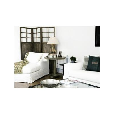 Chaise longue Bassano lino gris - BECARA