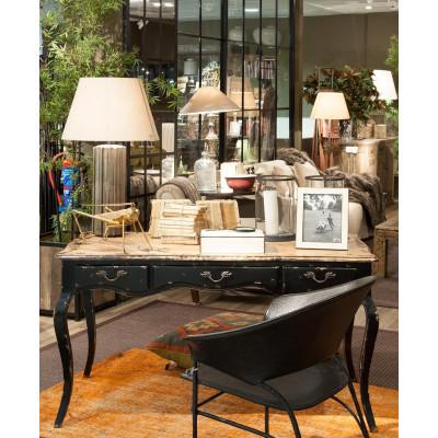 Lámpara de mesa de estrías de hierro oxidado - BECARA