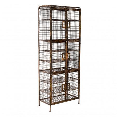 Ochre gridded cabinet