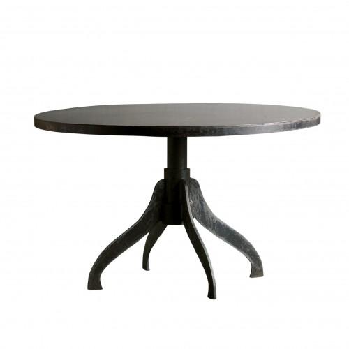 Mesa de comedor redonda con 4 patas