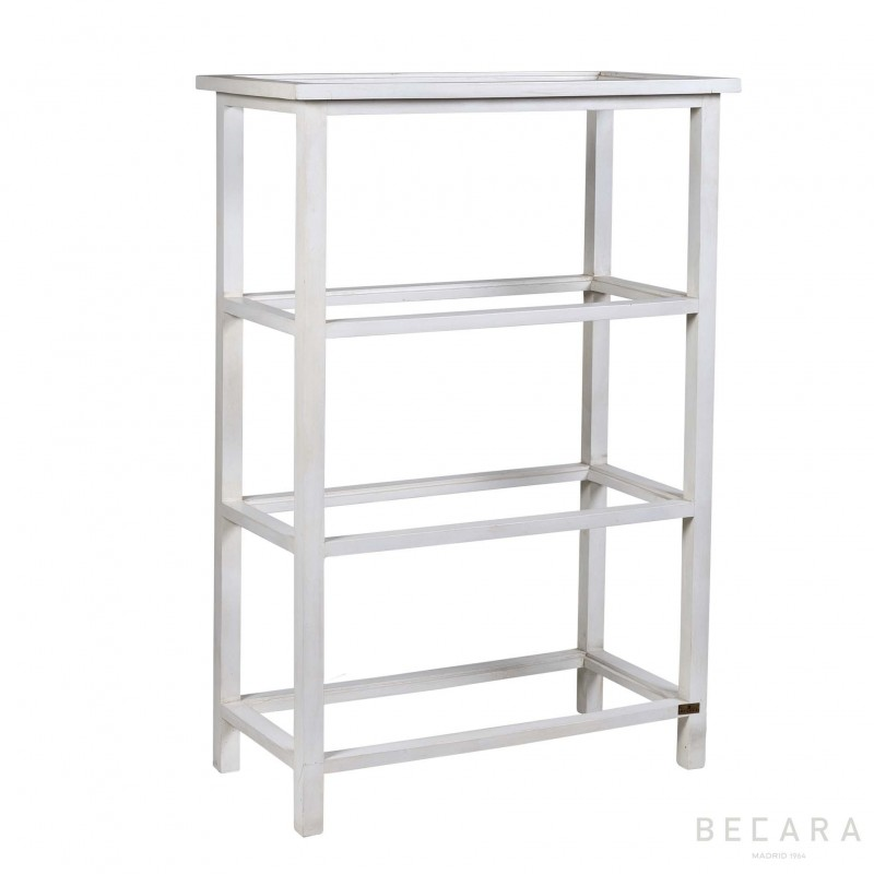 White shelves with glass