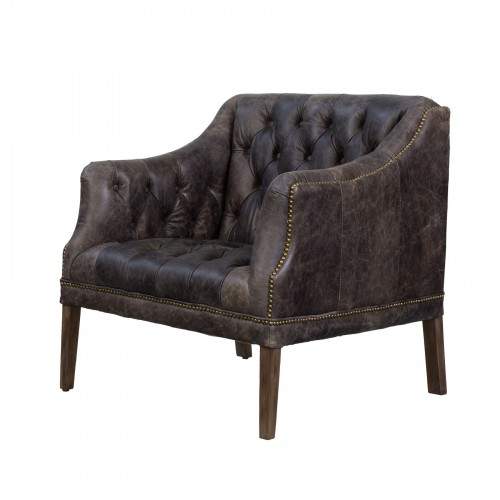 Elephant leather Clarence armchair