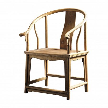 Natural wooden armchair