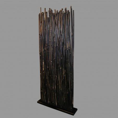 Thin bamboo screen room divider