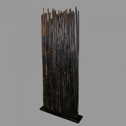 Thin bamboo screen room divider