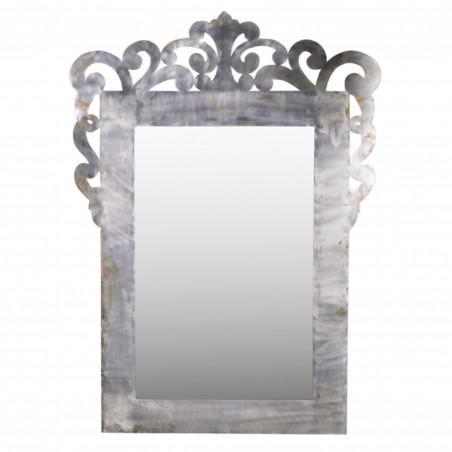 Espejo de hierro con formas orgánicas 113x155cm