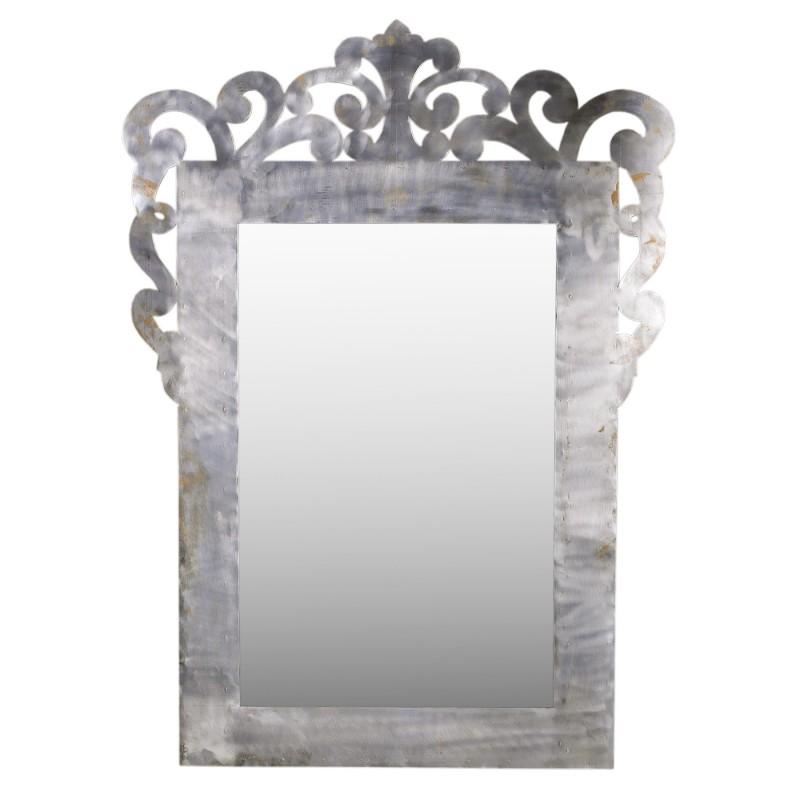 Espejo de hierro con formas orgánicas 113x155cm - BECARA