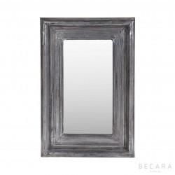 Espejo plateado 58x85cm muebles en becara for Espejo rectangular plateado