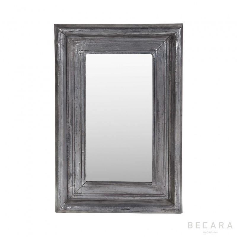 Espejo plateado 58x85cm - BECARA