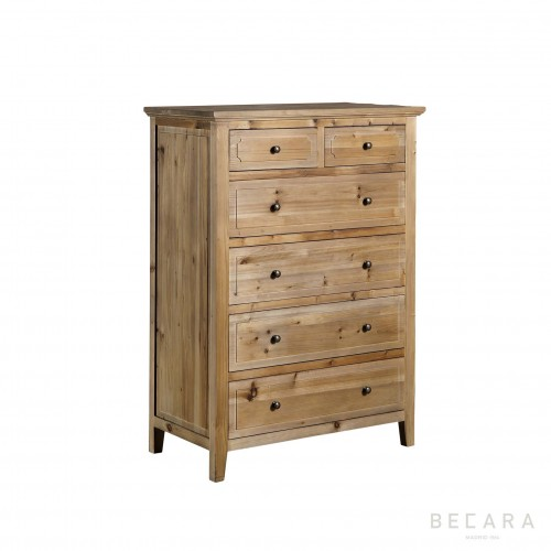 Wooden sideboard with 6 draws