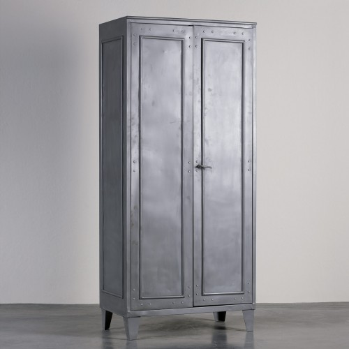 Grey cabinet with rivets
