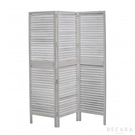 White wooden screen room divider