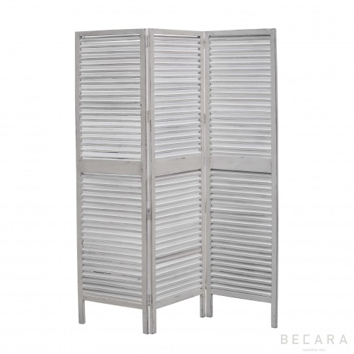 White wooden screen room divider