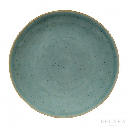 Turquoise shallow plate