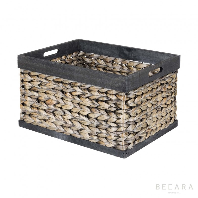 43x33x25cm black edge basket