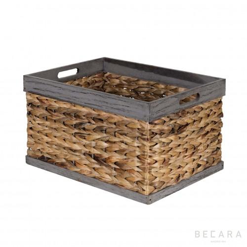 43x33x25cm grey edge basket