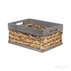 32x23x15cm grey edge basket
