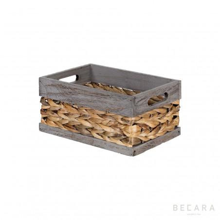 27x18x13cm grey edge basket