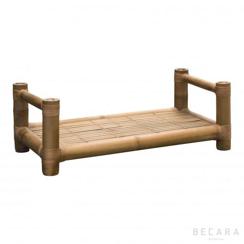 Mesa de centro de bambú grueso