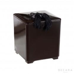Brown ice bucket