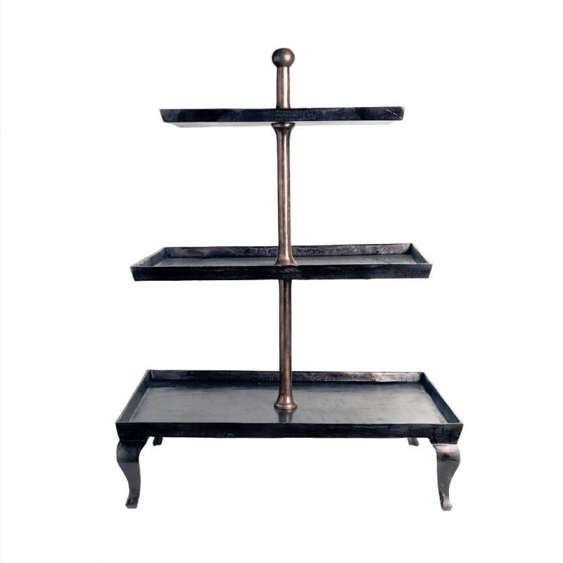 Estantería de bronce con 3 pisos - BECARA