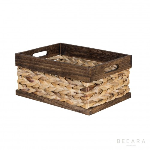 Cesto con corde marrón 32x23x15cm - BECARA