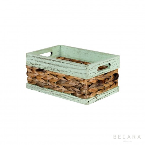 27x18x13cm green edge basket