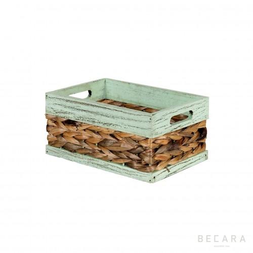 27x18x13cm green edge basket