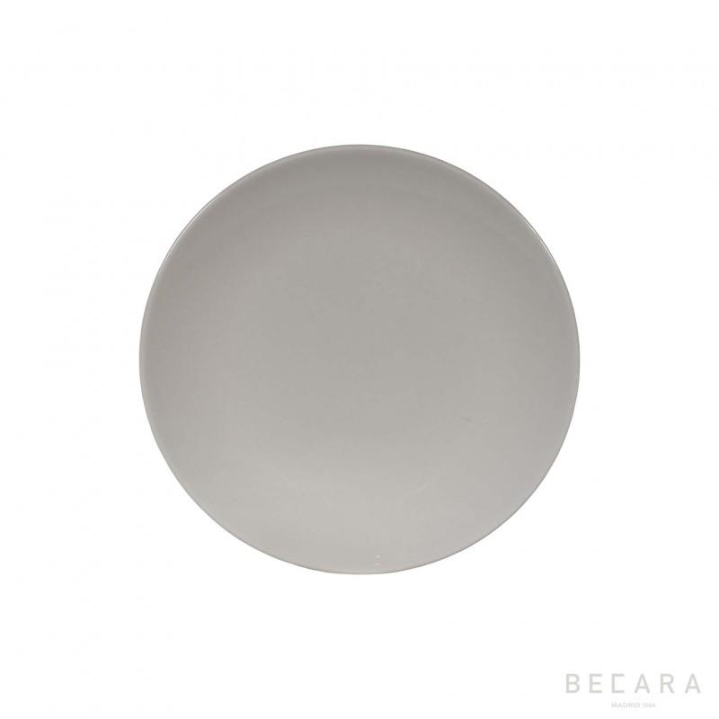 Plato liso blanco - BECARA