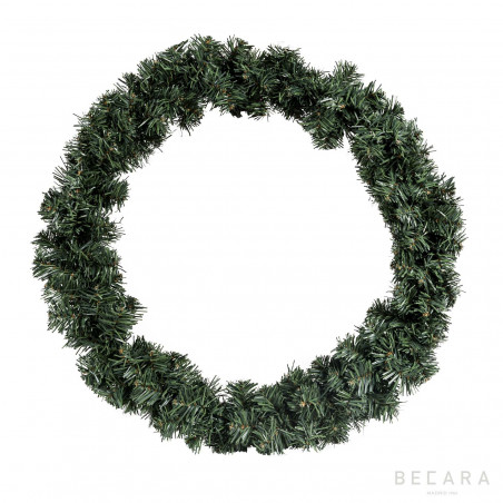 Corona de Navidad verde nevado