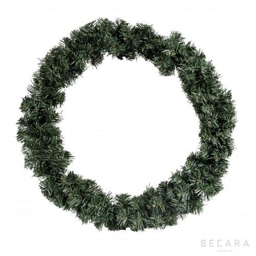 Corona de Navidad verde nevado - BECARA