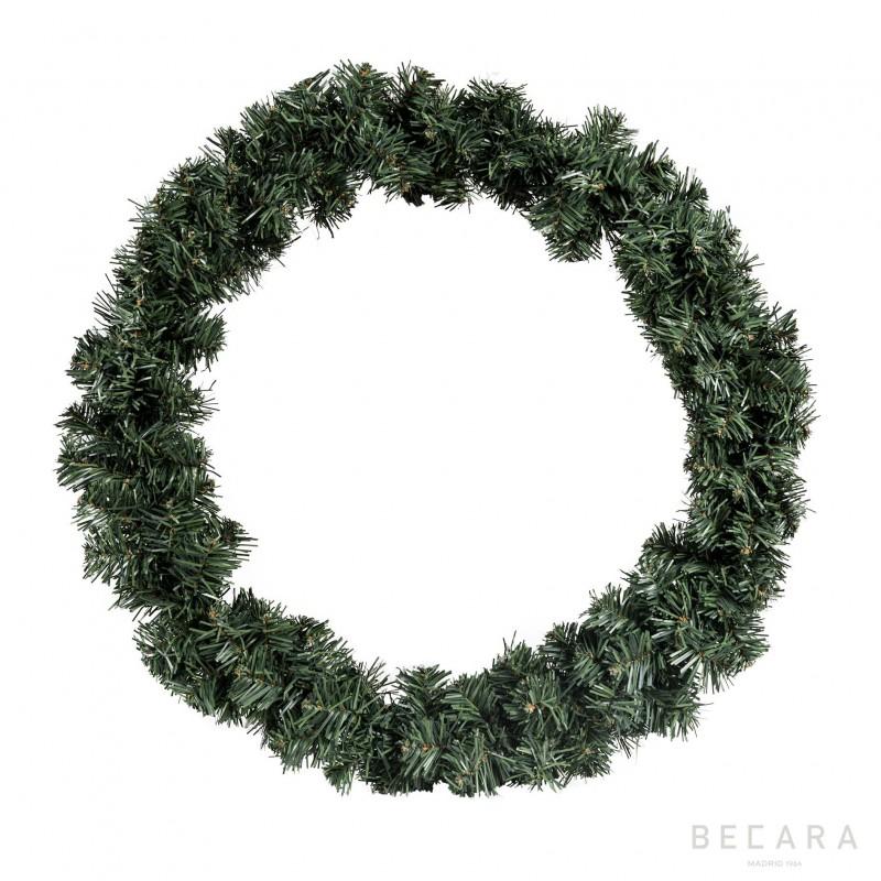 Snowy green Xmas wreath
