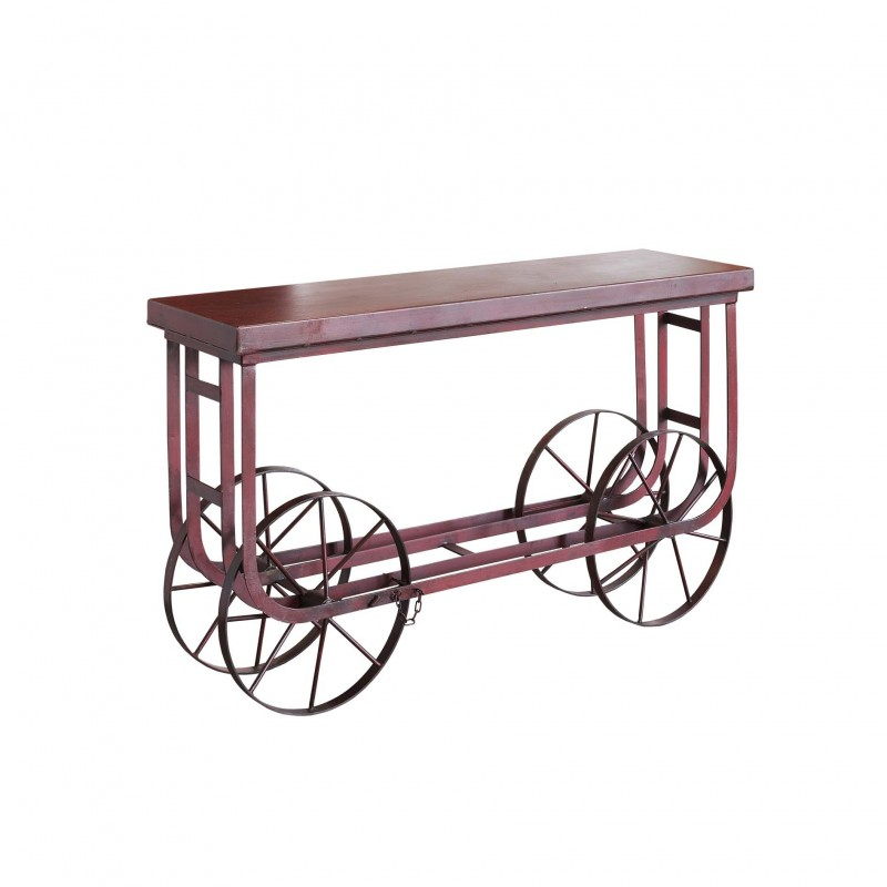 Red iron trolley