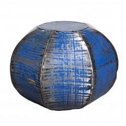 Mesa/Puff heptagonal azul