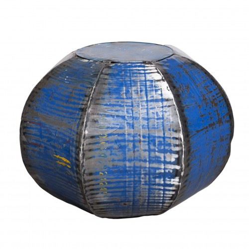 Heptagonal blue side table/pouffe