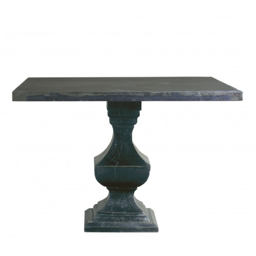 Metal dinning table with wooden top