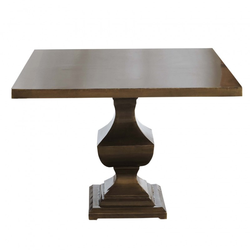 Square golden iron dining table