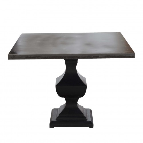Square black hierro dining table